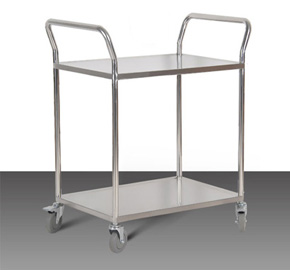 Double layer laboratory trolley RCS-023