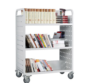 Three Layers Double-Sided book cart RCA-3D-LIB15