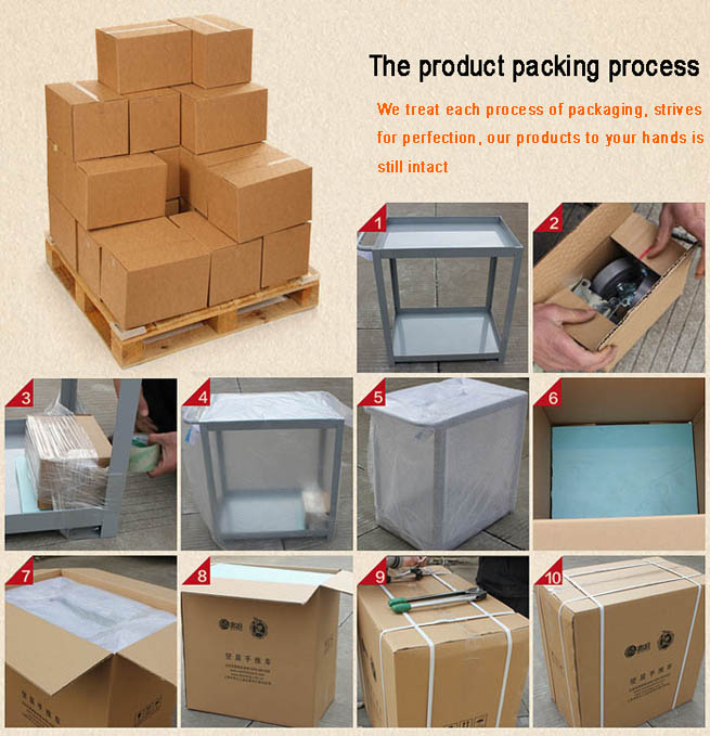 the packing of products